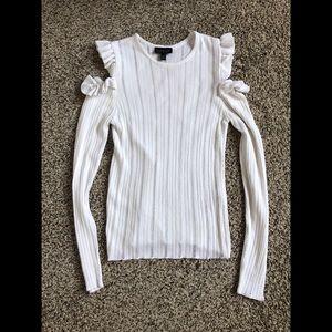 TopShop cold shoulder cream sweater